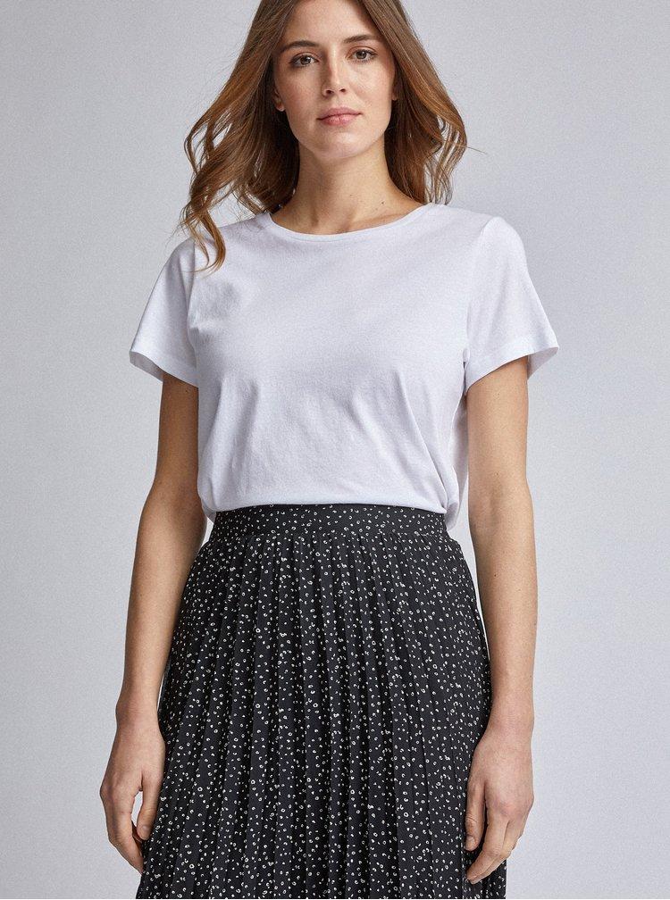 Čierna vzorovaná plisovaná midi sukňa Dorothy Perkins