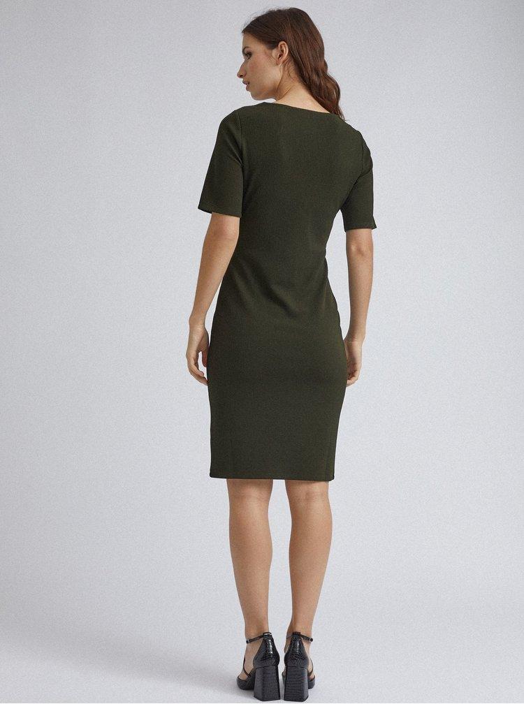 Tmavě zelené pouzdrové šaty Dorothy Perkins