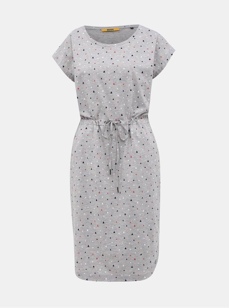 Šedé vzorované šaty ZOOT Baseline René