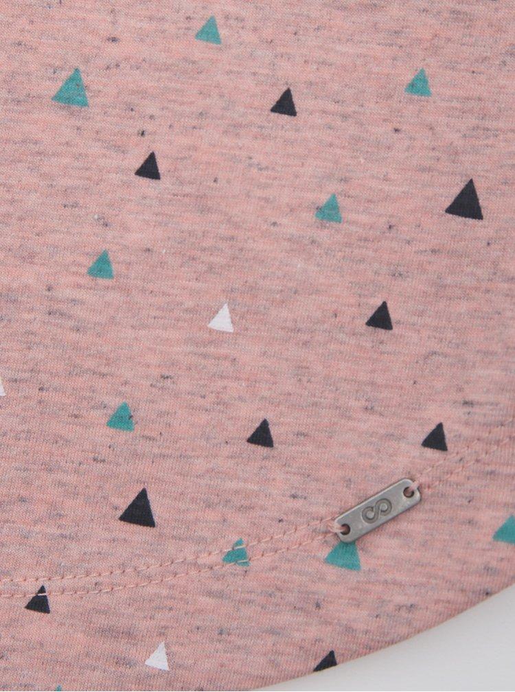Světle růžové dámské vzorované tílko ZOOT Baseline Dagmar