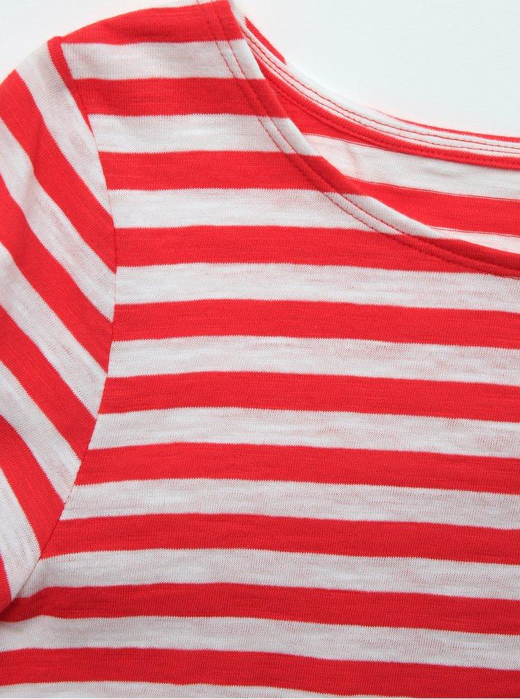 Bielo-červené dámske pruhované basic tričko ZOOT Baseline Atina
