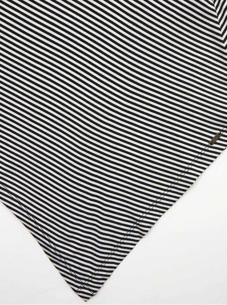 Bílo-černé pruhované basic šaty ZOOT Baseline Cornelie