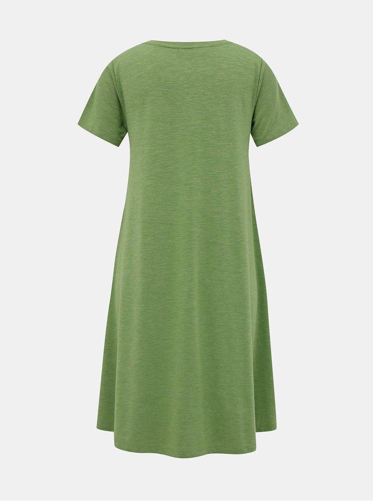 Zelené basic šaty ZOOT Baseline Bela