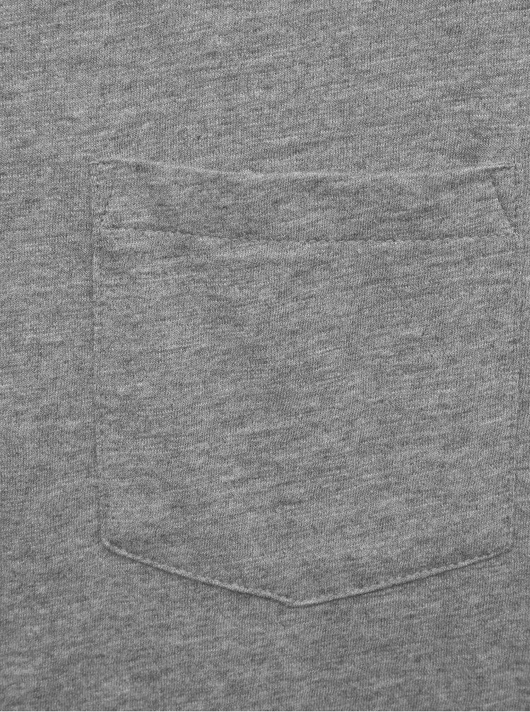 Šedé pánské basic tričko ZOOT Brandon