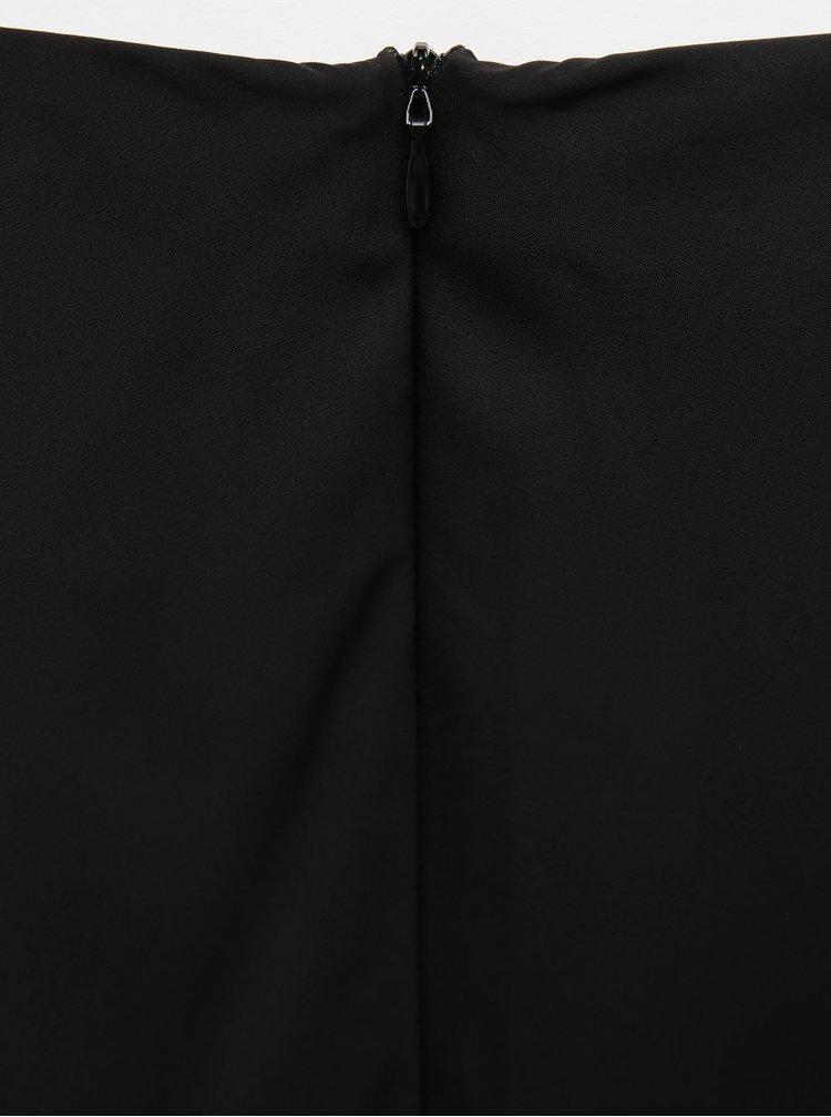 Čierna saténová midi sukňa ZOOT Molly