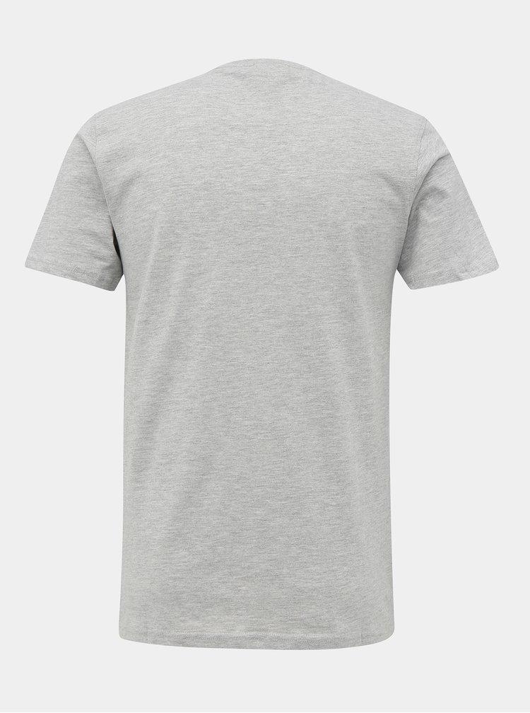 Šedé tričko s potiskem Shine Original
