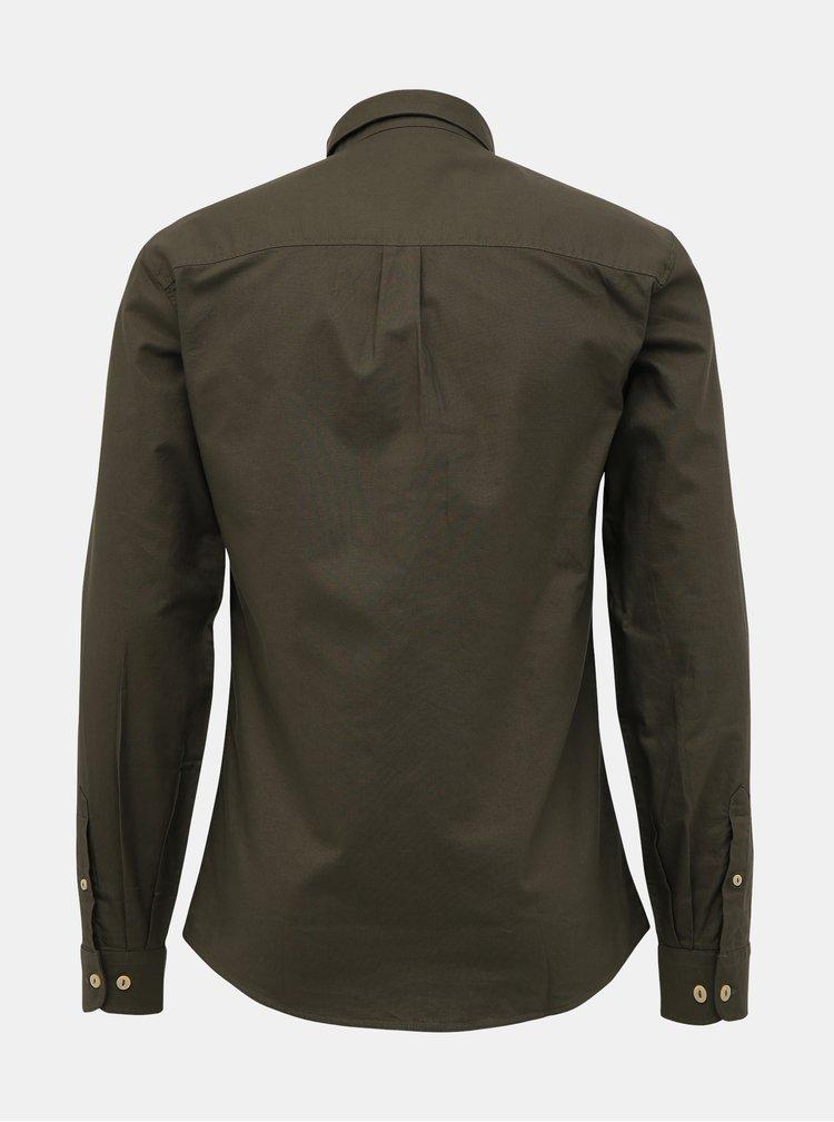 Camasi casual pentru barbati Shine Original - kaki