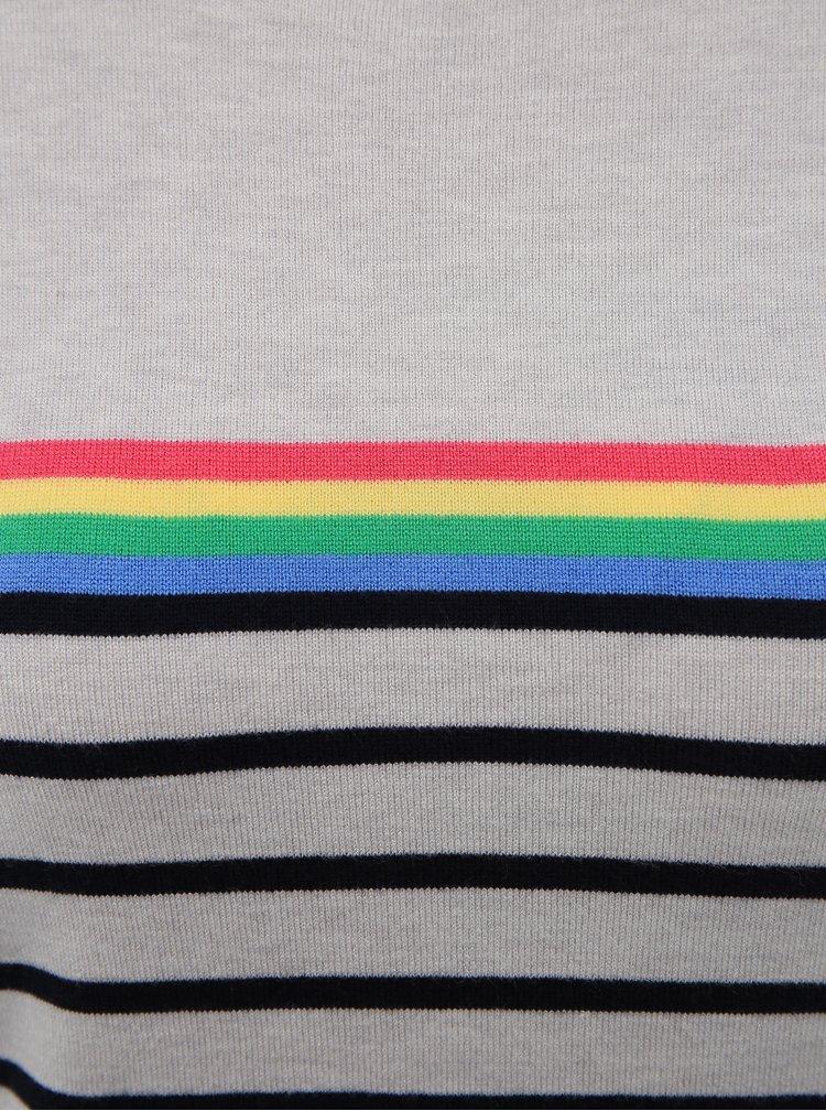 Šedý pruhovaný svetr M&Co Petite