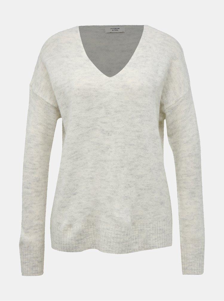 Světle šedý svetr Jacqueline de Yong Tea