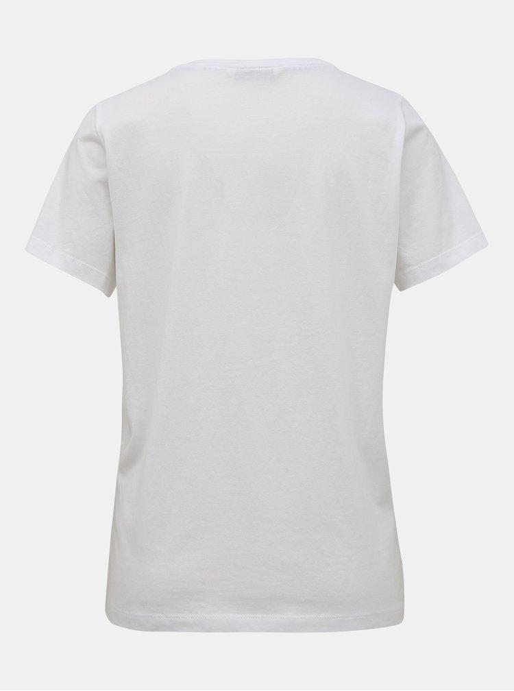 Bílé tričko s potiskem ONLY Thea