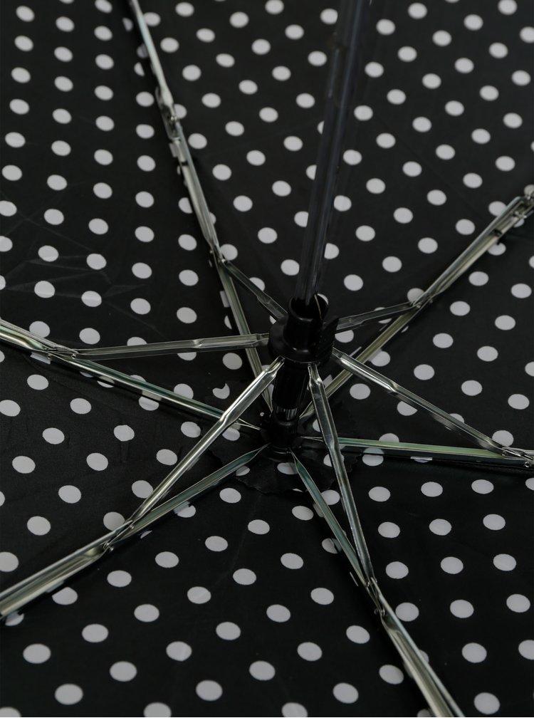 Černý puntíkovaný deštník M&Co
