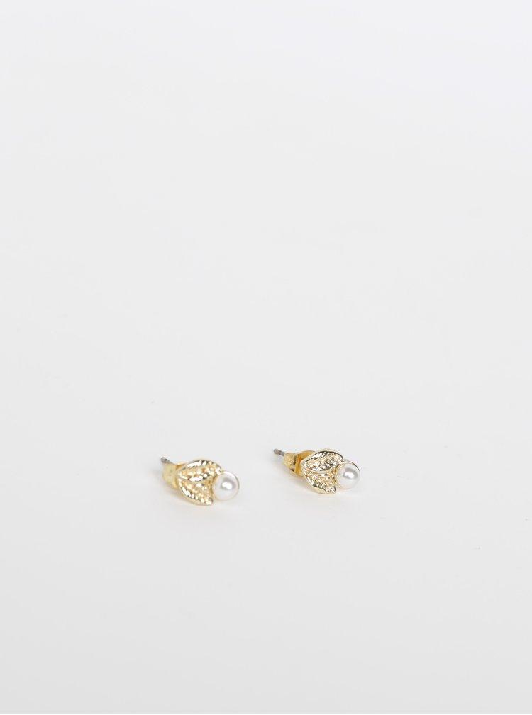 Náušnice ve zlaté barvě Pieces Nauja