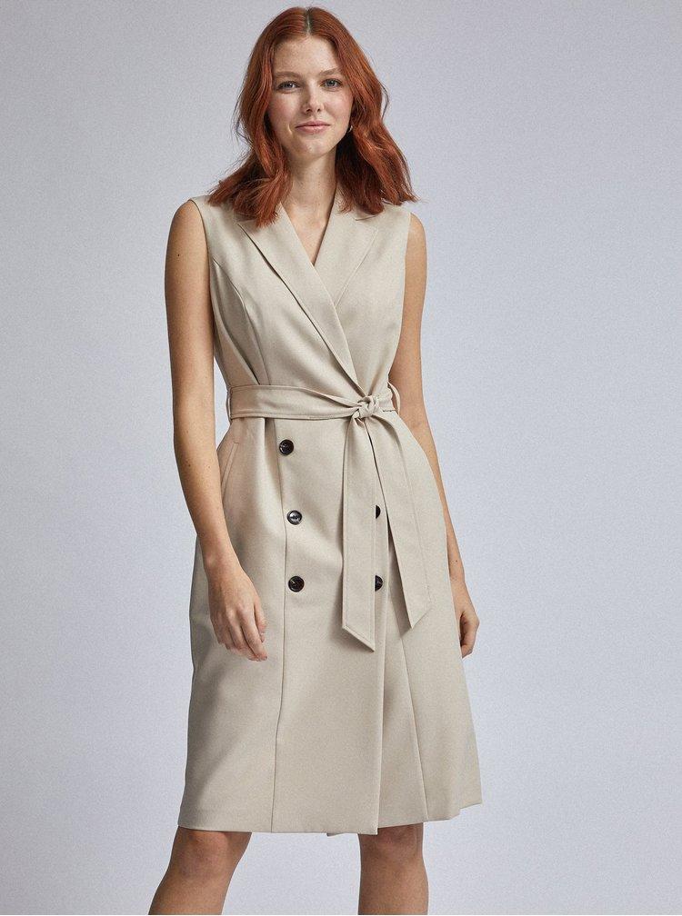 Béžové šaty Dorothy Perkins