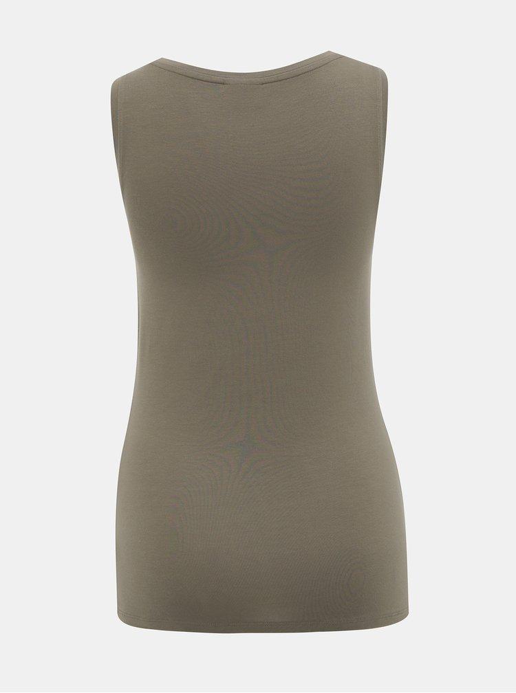 Tricouri basic pentru femei AWARE by VERO MODA - kaki