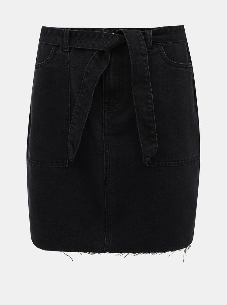 Černá džínová sukně Noisy May Kyra