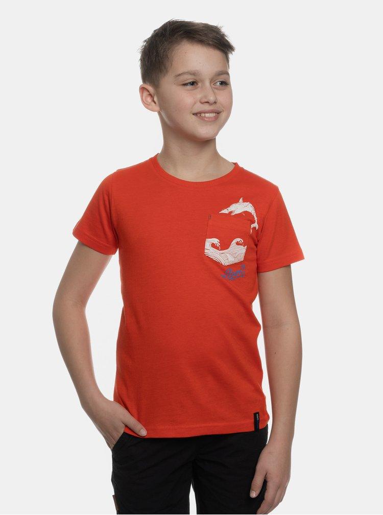 Červené  klučičí tričko s náprsní kapsou SAM 73