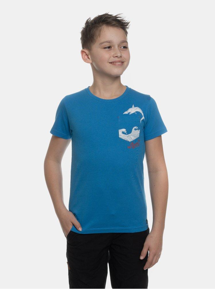 Modré chlapčenské tričko s vreckom SAM 73