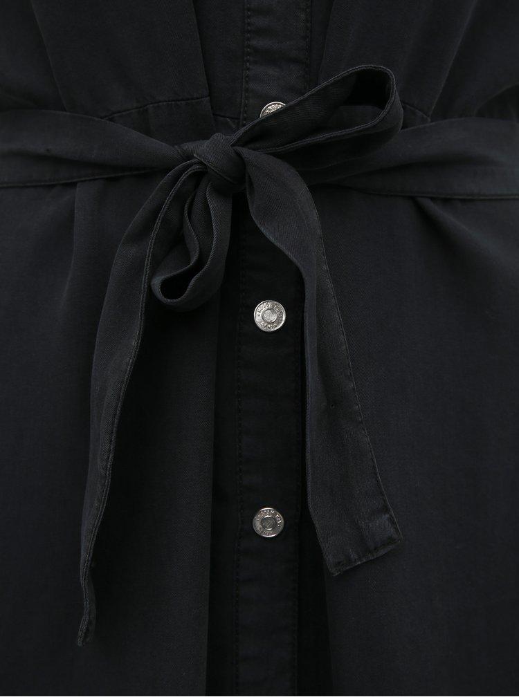 Černé košilové maxišaty Noisy May Cersei