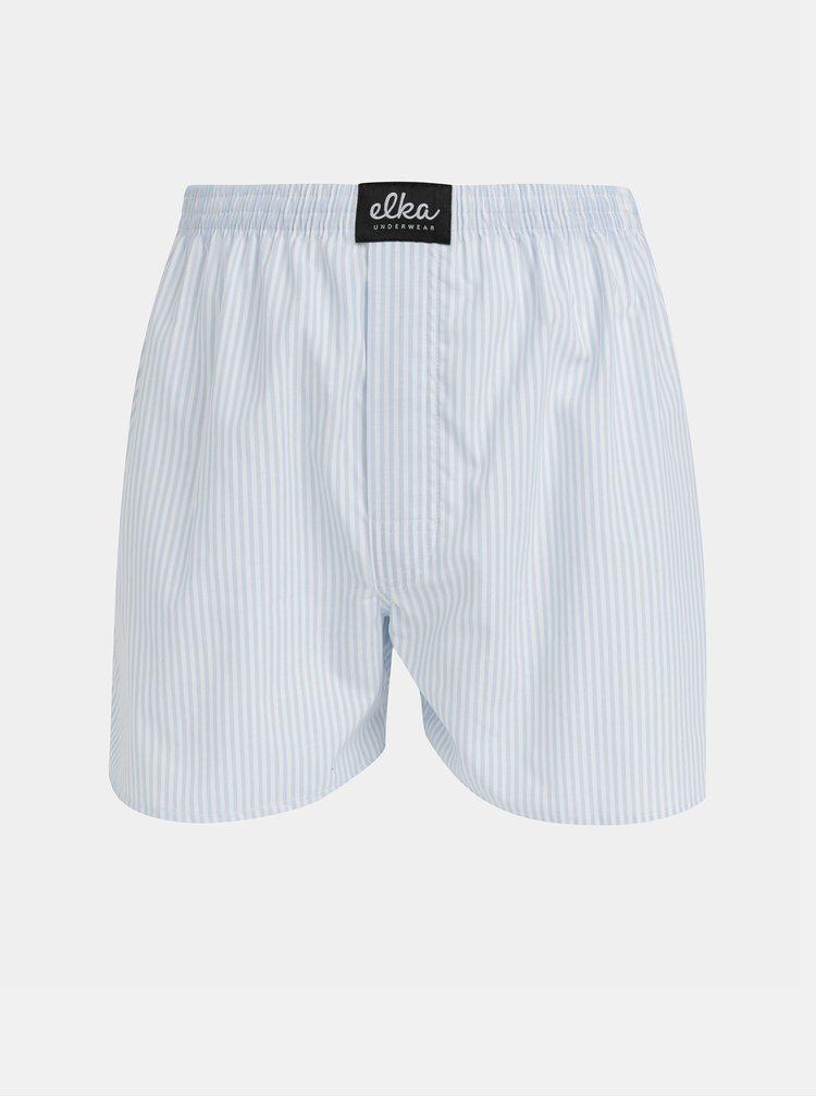 Bielo-modré pánske pruhované trenýrky ELKA Underwear