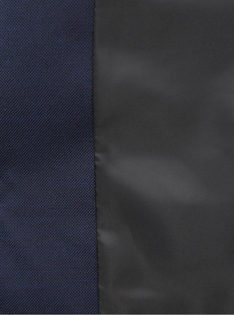 Tmavomodrá slim fit vesta s prímesou vlny Jack & Jones Solaris