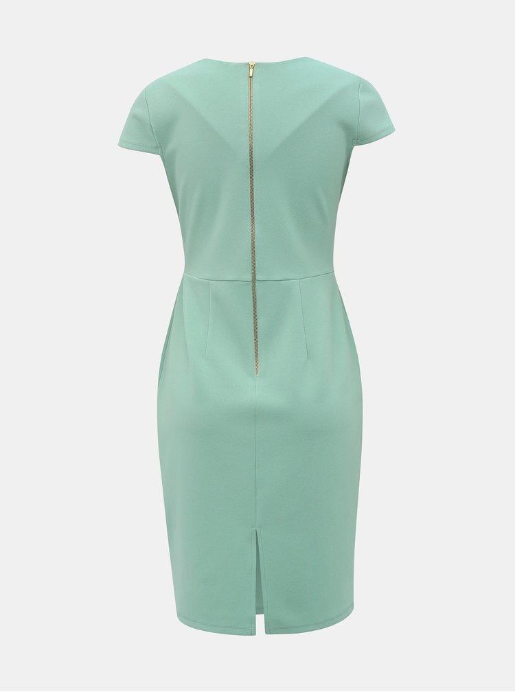Světle zelené pouzdrové šaty Dorothy Perkins