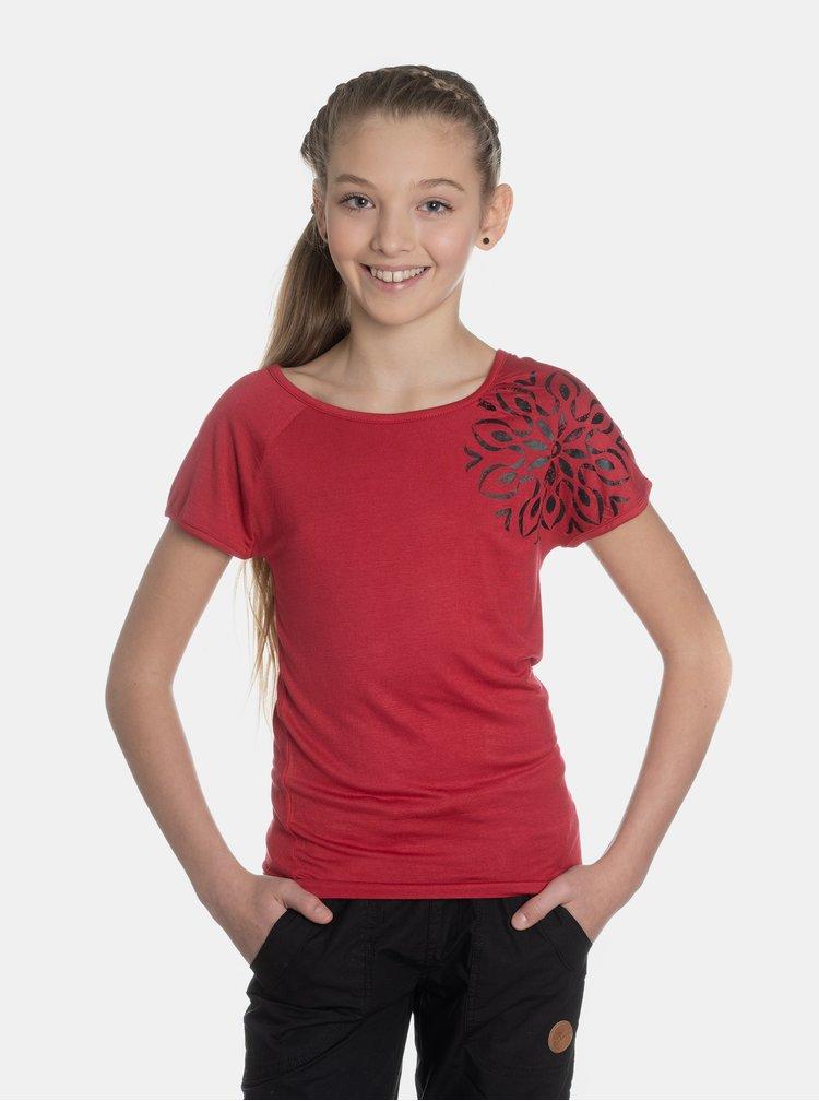 Červené holčičí tričko s potiskem SAM 73