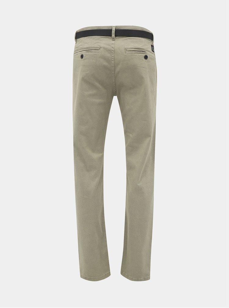 Béžové vzorované chino kalhoty Shine Original