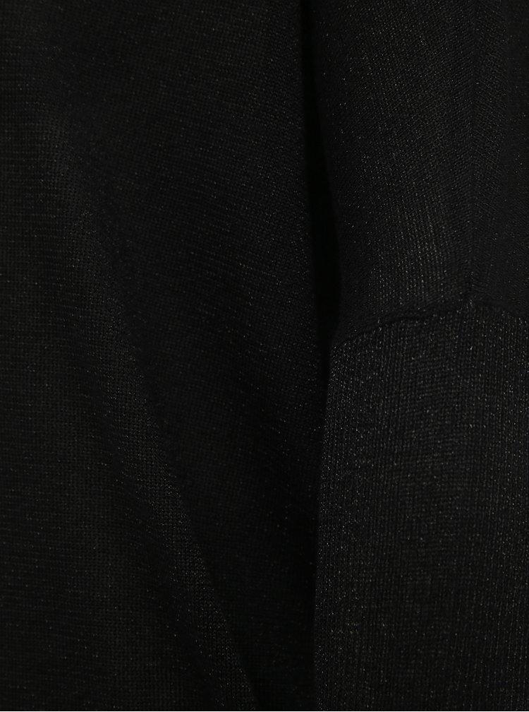 Černé třpytivé svetrové šaty ONLY Skylar