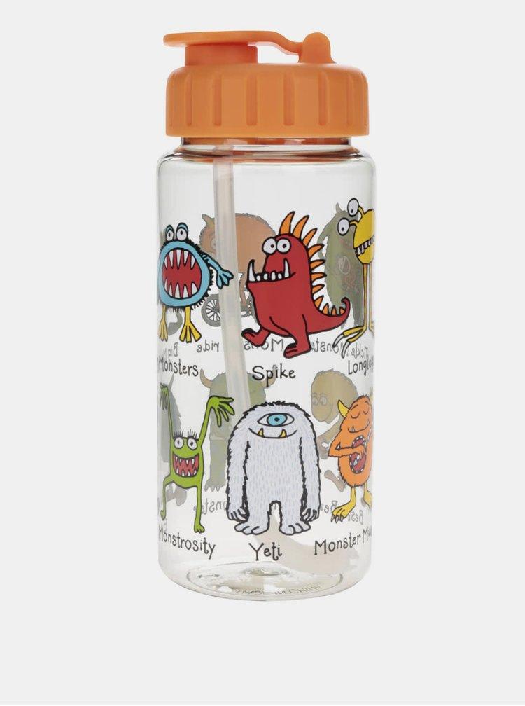 Oranžová chlapčenská fľaša na pitie Tyrrell Katz Monster