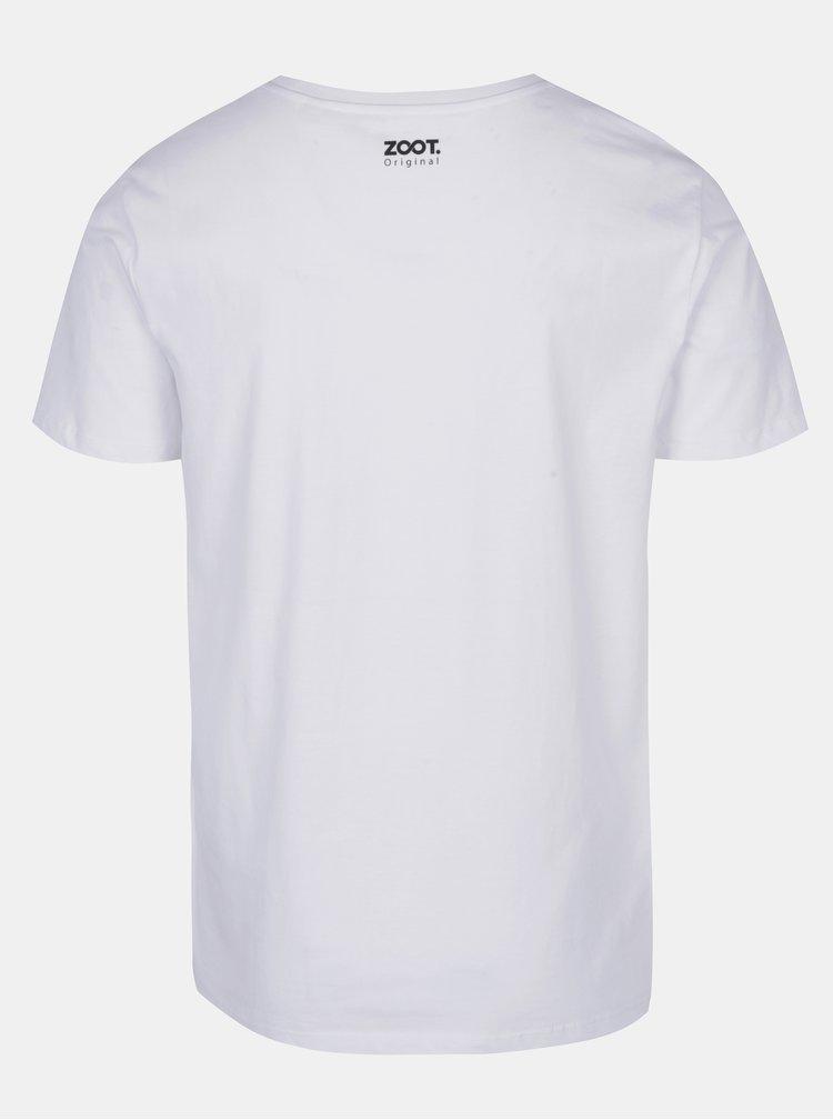 Bílé pánské tričko ZOOT Originál  Mislím na ťeba