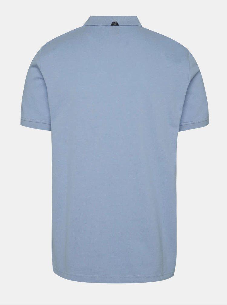 Tricou polo albastru deschis s.Oliver din bumbac cu logo