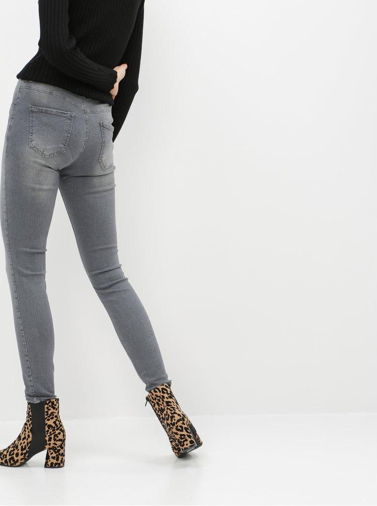 Šedé dámské slim fit džíny ZOOT