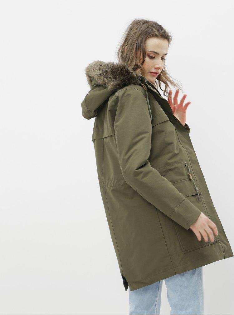 Jachete subtire pentru femei Roxy - kaki