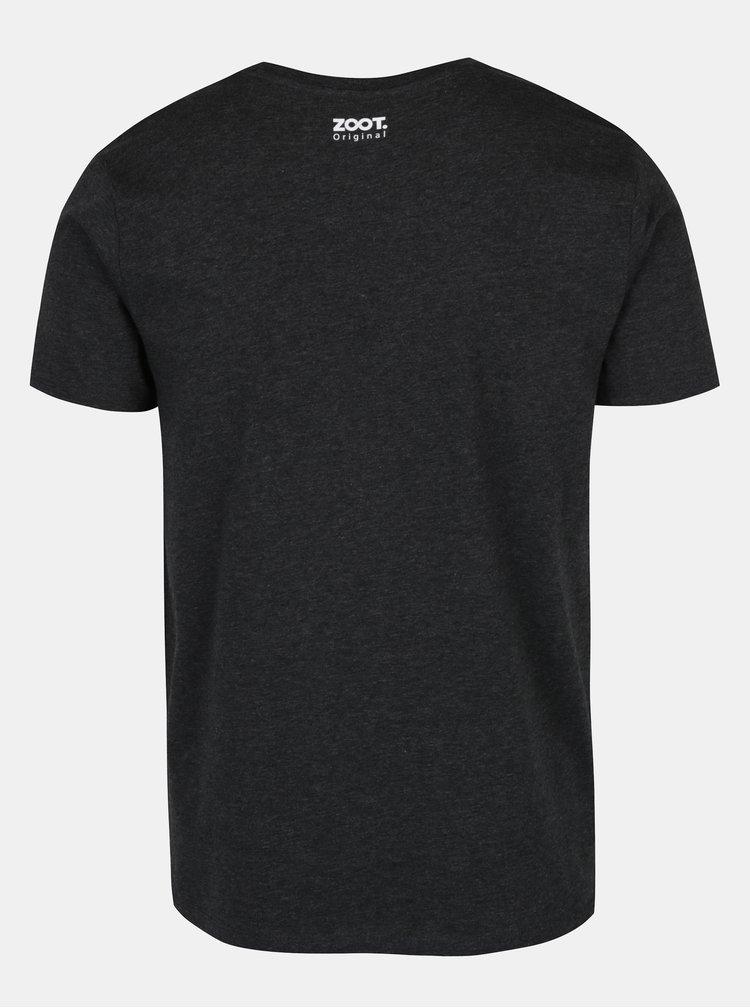 Tricou din bumbac organic gri inchis pentru barbati - ZOOT Originál Genius