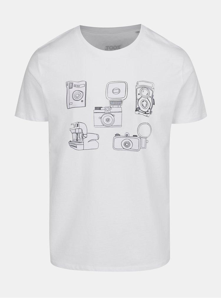 Tricou alb cu print camere foto pentru barbati ZOOT Original Foto
