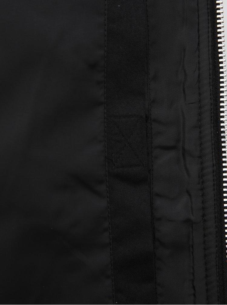 Černý vlněný bomber Jack & Jones