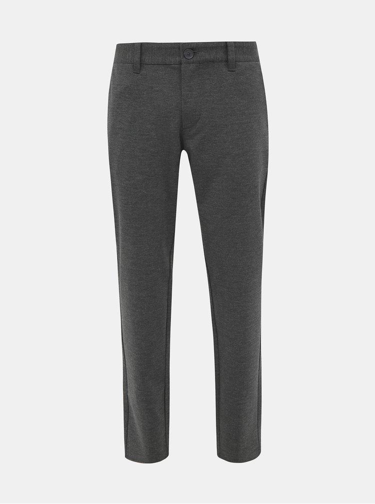 Pantaloni formali pentru barbati ONLY & SONS - gri inchis