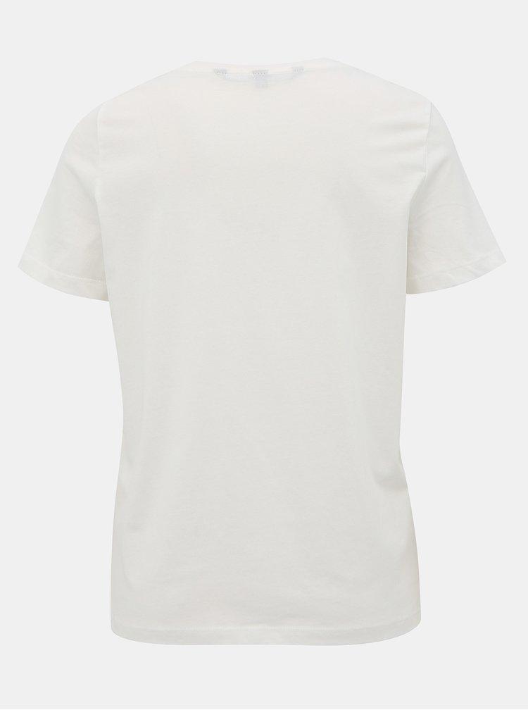 Biele tričko Vero Moda Ingefredolly