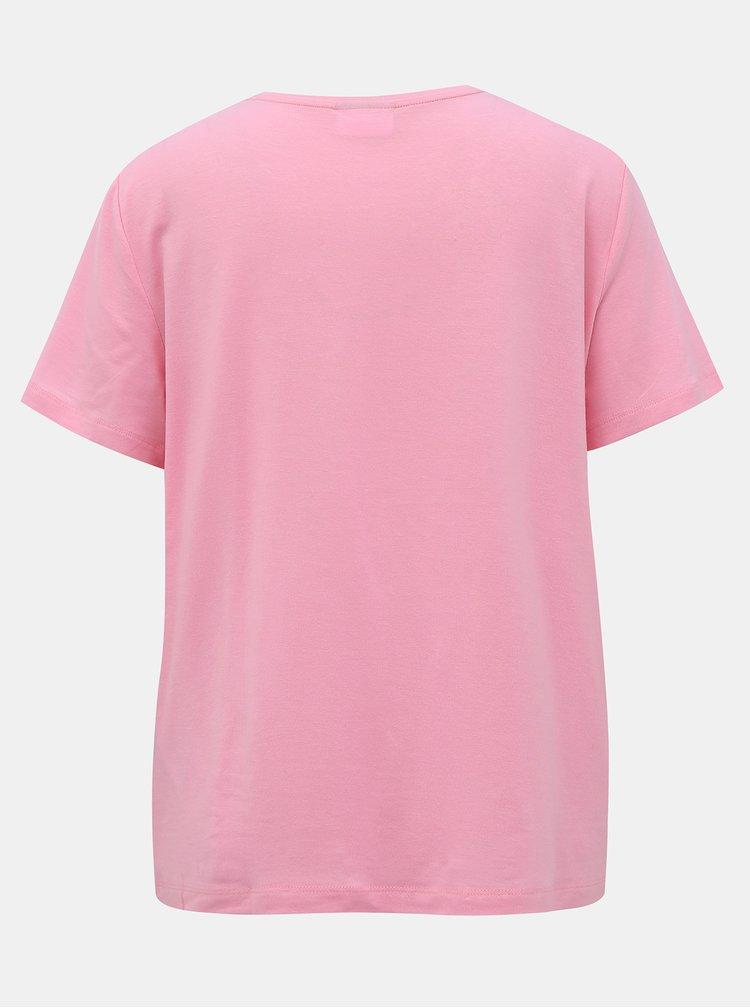 Růžové basic tričko AWARE by VERO MODA Ava