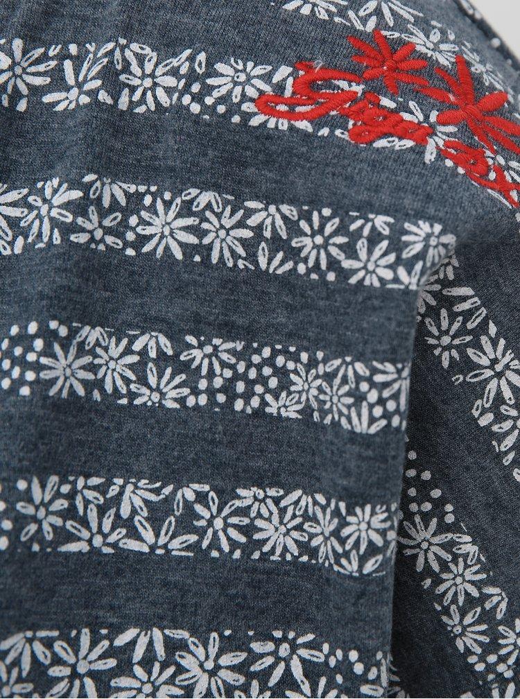 Šedé dámske kvetované tričko killtec Vaiva