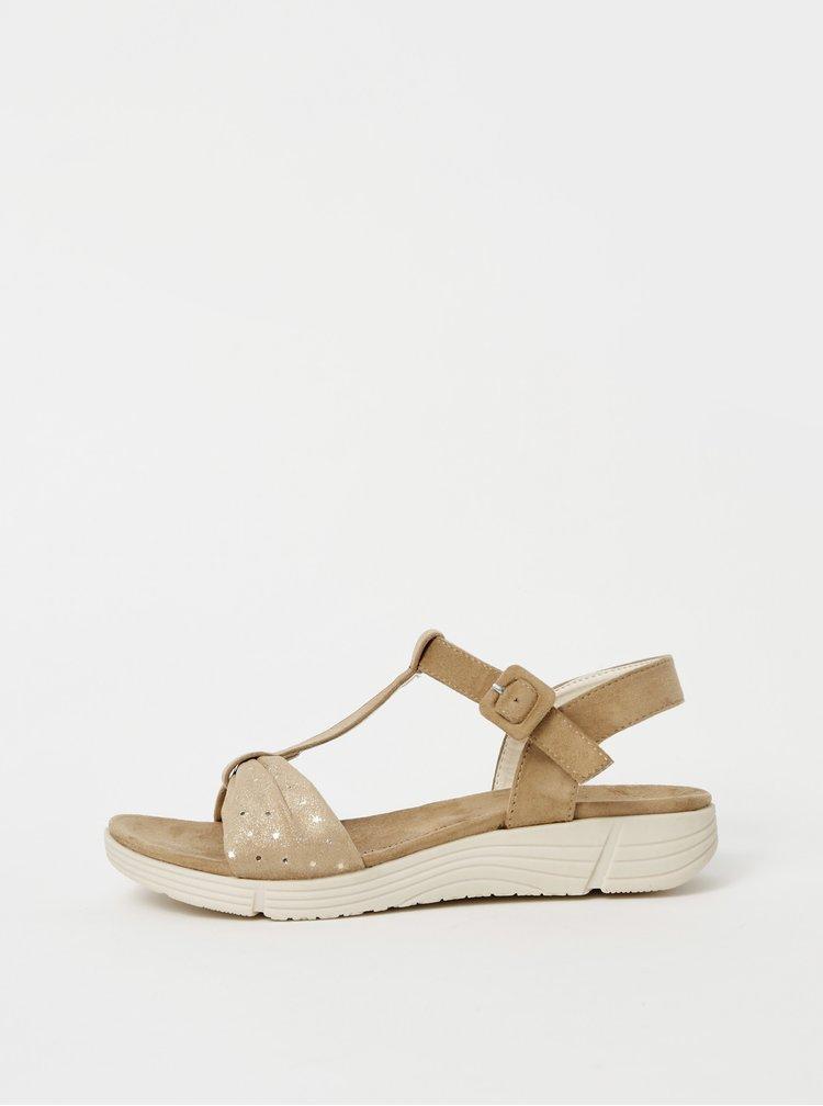 Béžové dámské sandály v semišové úpravě Xti
