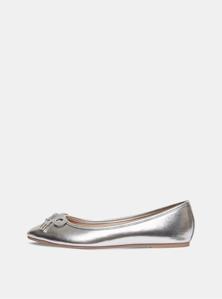 Baleríny ve stříbrné barvě Dorothy Perkins