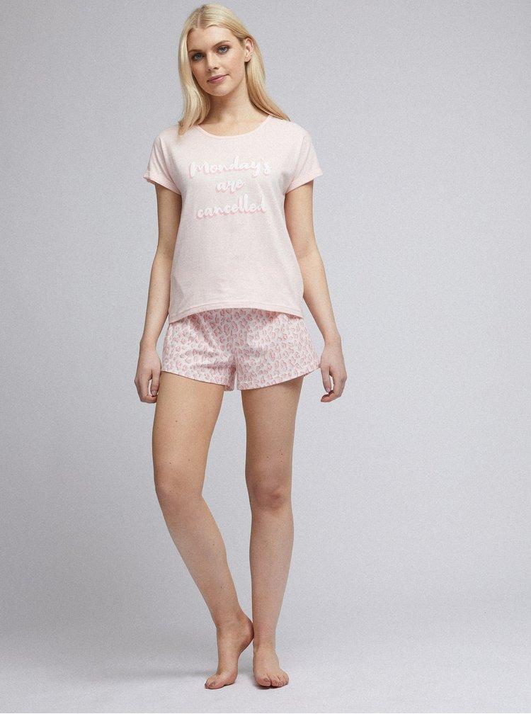 Světle růžové pyžamo Dorothy Perkins