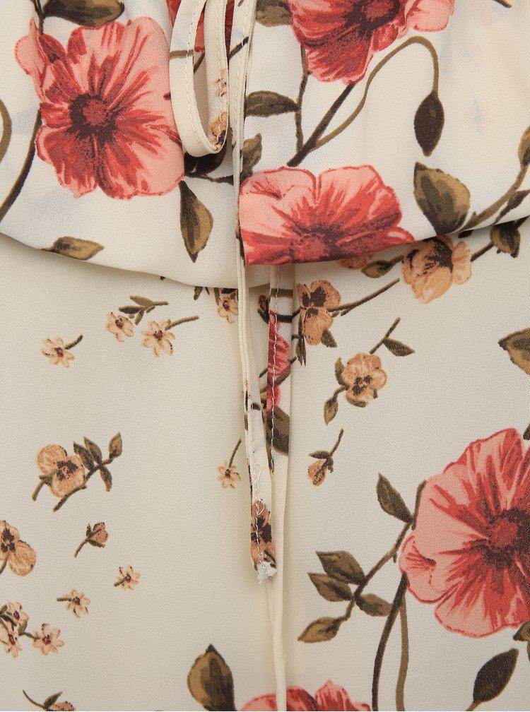 Béžová květovaná halenka Dorothy Perkins