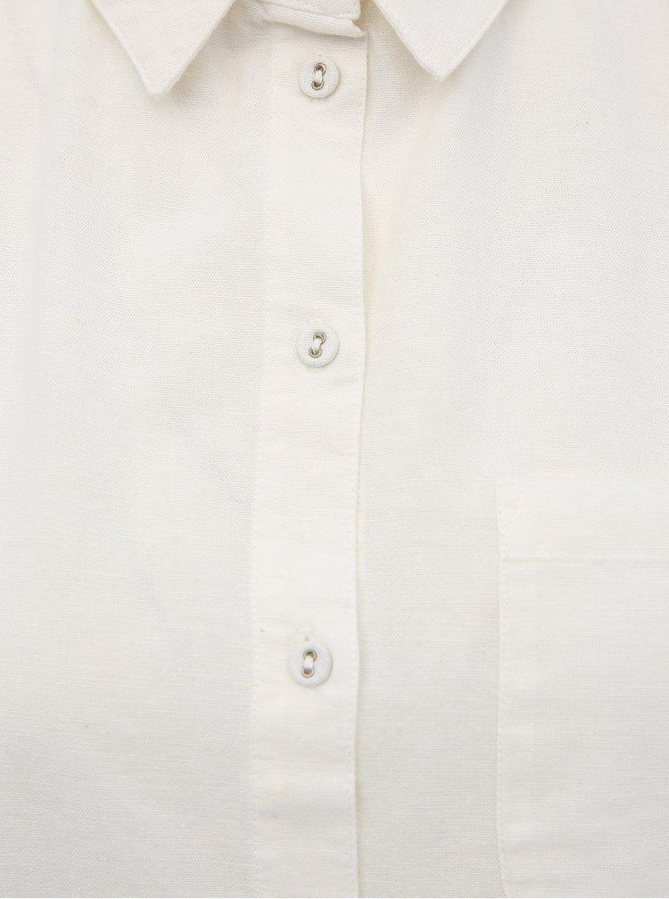 Krémová košile s příměsí lnu Dorothy Perkins
