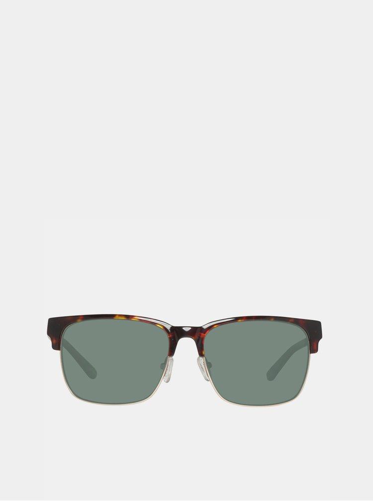 Tmavě hnědé vzorované sluneční brýle GANT