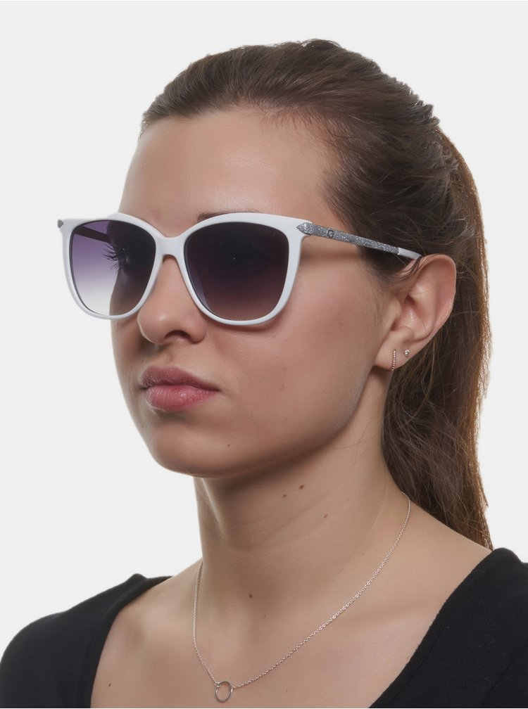 Biele dámske slnečné okuliare Guess
