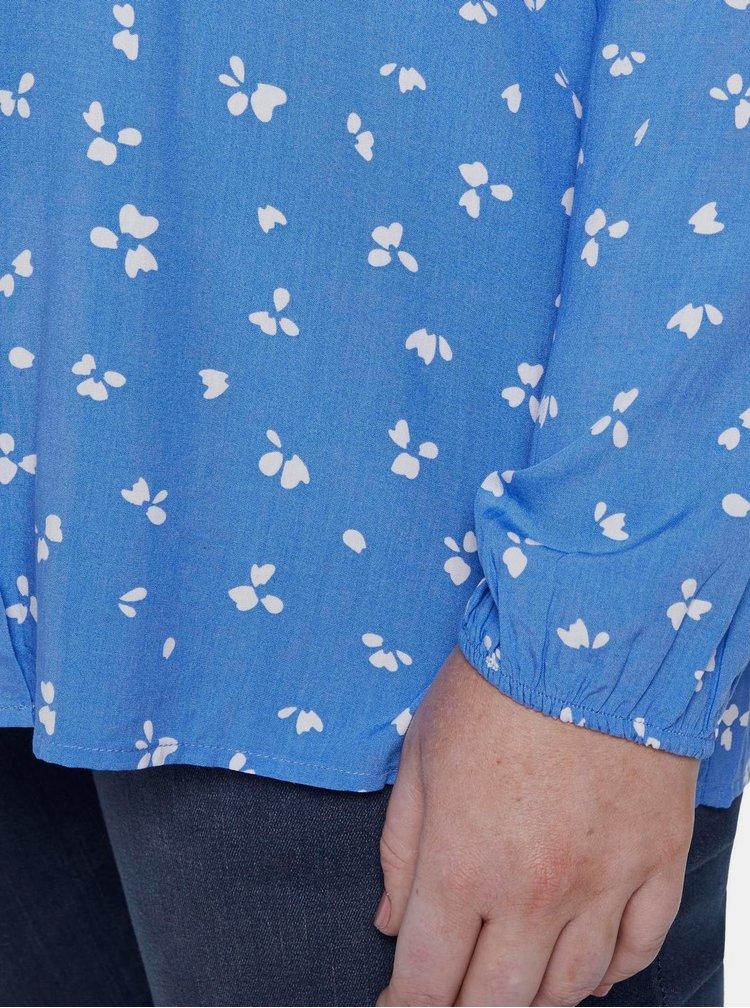 Modrá vzorovaná halenka My True Me Tom Tailor