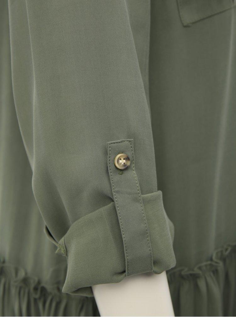 Khaki košilové šaty VERO MODA Michalla