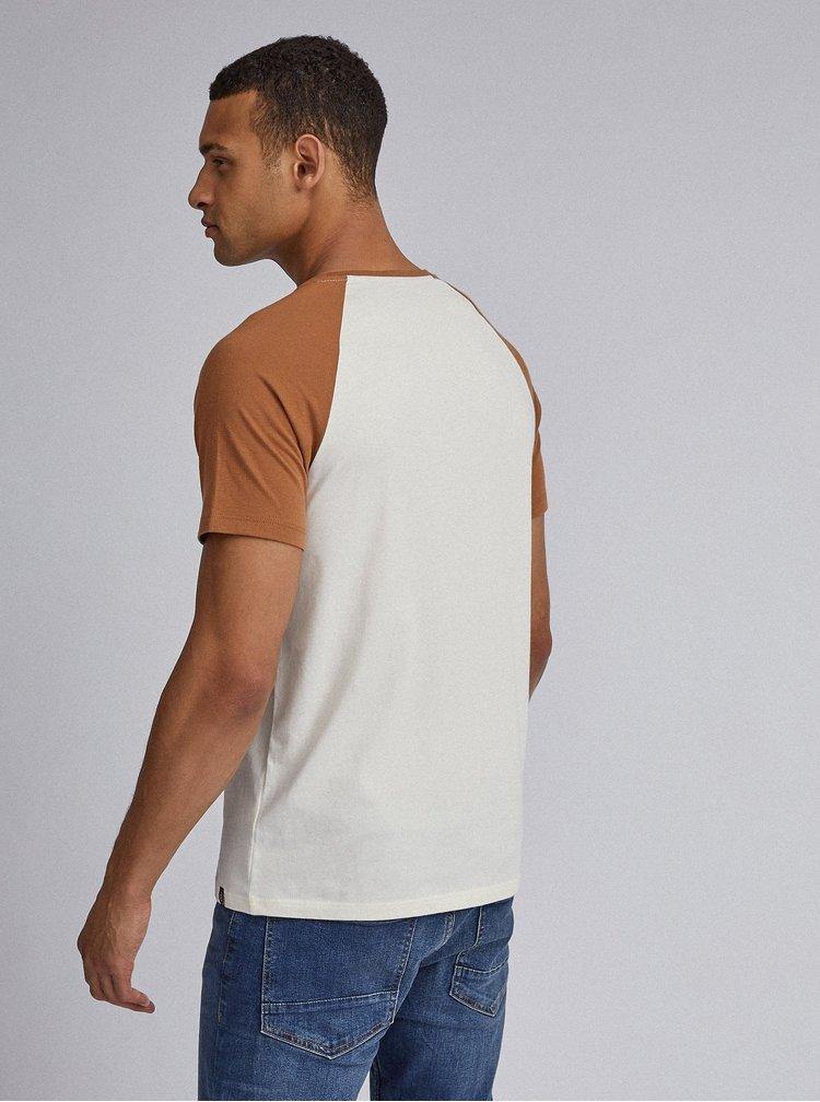 Krémové basic tričko Burton Menswear London